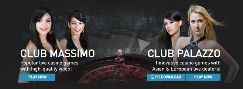 Try ClubW88 Pallazo and Club Massimo - HD Casino Gaming