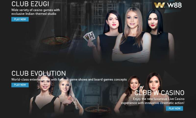 Enjoy a Land-Based Casino Experience from Baccarat Live in W88 Clubs