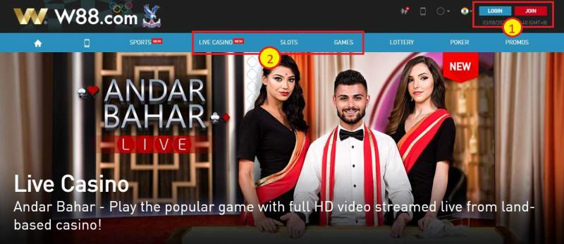 How to Register and Play Gambling Online W88