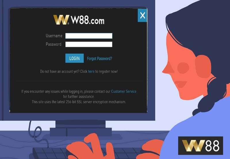 User-Friendly Access at Login W88